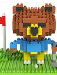 Loz Brown Bears Golf Loz Diamond Blocks Block Toys DIY Toys(340 Pcs)