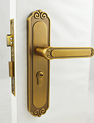 Yellow Bronze Door Lock, Lever Lock, Leverset, Door Lever with 3 Keys
