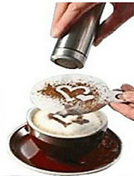 8pcs Coffee Novelty Fancy Coffee Garland Mold Printing Mold