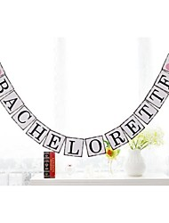 Bachelorette Party Banner with Pink Hearts Bridal Hen Party Banner Sign Bunting Garlands