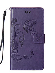 Full Body Wallet / Card Holder / with Stand / Embossed Butterfly PU Leather Hard Case Cover For HuaweiHuawei P9 / Huawei P9 Lite / Huawei