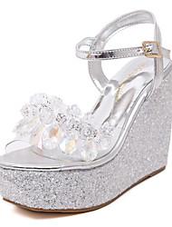 Women's Shoes  Wedge Heel Heels  / Open Toe Sandals Wedding / Office & Career / Party & Evening / DressPink / White