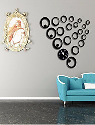 2016 Fashion Decorative Clock Living Room Backdrop Clock Circle Mirror Clock Wall Clock
