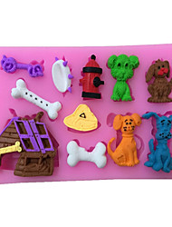 Dog kennel Shaped Silicone Fondant Cake Cake Chocolate Silicone Molds,Decoration Tools Bakeware