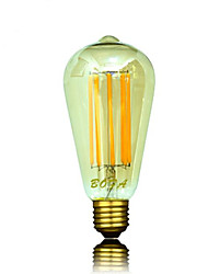 8W E26/E27 / B22 / E26 Круглые LED лампы ST64 8 COB 450-650 lm Тёплый белый Регулируемая / Декоративная AC 220-240 / AC 110-130 V 1 шт.