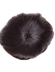 """6 """"девственные части человеческих волос для человека моно базовой мужской тупею 7"""" * 9 """"тупею парик"""