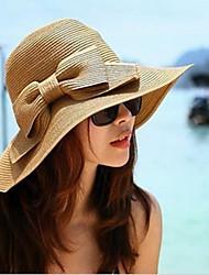 Mujer Sombrero de Paja Bonito / Casual-Primavera / Verano / Otoño-Paja