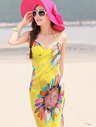 Fashion Summer  Chiffon Style Scarf Beach Towels Ladies Chiffon Scarves Shawls Random Color