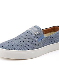 Men's Shoes Casual Fabric Loafers Blue / Gray