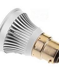 Spotlight mr16 3w e14 / gu5.3 (mr16) / b22 / e26 / e27 1 cob 250-300 lm bianco caldo / cool bianco dc 12 v