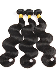 High Quality 3Bundles 150g Brazilian Virgin Hair Natural Black Body Wave Unprocessed Virgin Human Hair Weaves