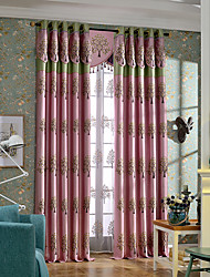 blackout embroidery curtains for living room bedroom with valance european style finished products  no valance