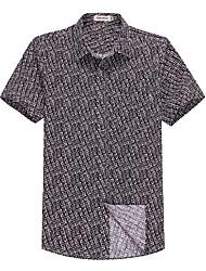 Sieben Brand® Herren Hemdkragen Kurze Ärmel Shirt & Bluse Schwarz-71A336002