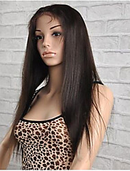 "10""-26"" Straight Full Lace Human Hair Lace Wigs Glueless Full Lace Front Wigs With Baby Hair Brazilian Virgin Hair Wigs"