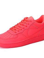 Scarpe Donna-Sneakers alla moda-Casual-Comoda-Piatto-Di pelle-Nero / Rosso / Bianco