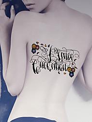2 Tattoo Aufkleber Tier Serie / Cartoon-Serie Non Toxic / Muster / Große Größe / WaterproofDamen / Herren / Erwachsener / Teen
