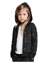 Girl's Black Jacket & Coat Cotton Winter