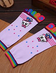 Outdoor Women's Socks Yoga Anti-skidding / Sweat-wicking Spring / Autumn / Winter Free Size 3 Couples/Set(Random Colors)