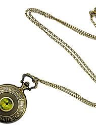 Masculino / Mulheres / Unissex Relógio de Bolso Quartz Gravação Oca Lega Banda Amarelo marca-