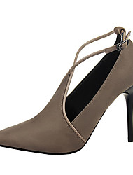Women's Heels Summer Heels Fleece Casual Stiletto Heel Others Black / Red / Gray / Almond / Khaki Others