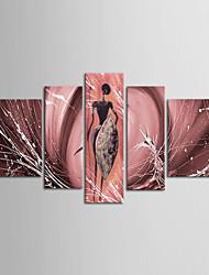 ручная роспись африки мариниста искусства стены декора дома картины маслом на холсте 5pcs / комплект с натянутой рамы