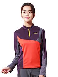MAKINO® Femme Manches longues Course / Running Hauts/Tops Respirable Printemps Automne Vêtements de sportCamping / Randonnée Chasse Pêche