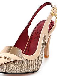 Women's Shoes Glitter/Stiletto Heel/Sling back/Pointed Toe Sandals/Heels Party & Evening/Dress Black/Silver