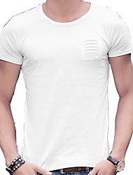 In the summer of 2016 new men's casual T-shirt coat color cotton T-shirt shirt slim.