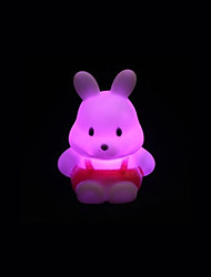 Creative Color-Changing Acrylic Turnip Rabbit Colorful LED Night Light Cute Little Rabbit Wedding Supplies