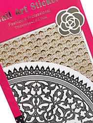 Black Gold Sticker PVC Flower Nail Jewelry