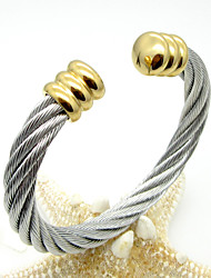 Fashion Unisex's Stainless Steel Cable Cuff Bangle