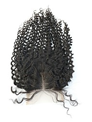 Brazilian Hair Kinky Curly 3.5X4 inch Swiss Lace Closures Middle Part Free Part Closure