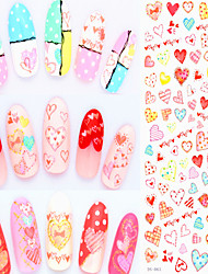 3pcs DIY Water Transfer Nail Art Sticker Fashion Nails Colorful Flowers Manicure Decals Cute Nail Decorations Tools