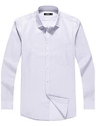 Sieben Brand® Herren Hemdkragen Lange Ärmel Shirt & Bluse Blau-704A3B6253