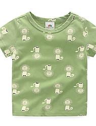 Jungen T-Shirt - Baumwolle Tiermuster Druck Sommer / Ganzjährig / Frühling / Herbst