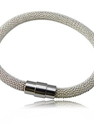 Stainless Steel Beads Winding Bangle