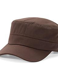 Men's Solid Color Female Summer Outdoor Breathable Cotton Cap Sun Hat