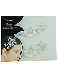 de casamento das mulheres de papel de prata para o cabelo adesivos tatuagem
