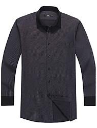 Sieben Brand® Herren Hemdkragen Lange Ärmel Shirt & Bluse Schwarz-703A3B0588