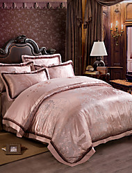 New bedding  Luxury Silk Cotton Blend Duvet Cover Sets Queen King Size Bedding Set
