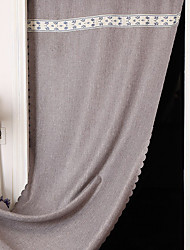 90cm*180cm Grey Linen Door Panel Curtains Drapes