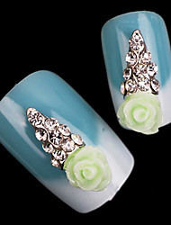 Lovely Mental Color Diamond AB Drill Candy Resin Ice Cream Nail Jewelry (5Pcs)