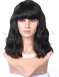 "Unprocessed 8""-16"" Virgin Brazilian Natural Color Loose Wave Bob Full Lace Wig Human Hair Lace Front Wigs"