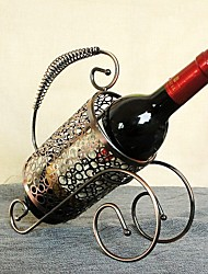 New Fashion Retro Bronze Wine Rack Continental Iron Wine Rack Series Home Furnishing Ornaments