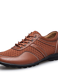 Big Size Men's Shoes Office & Career / Party & Evening / Casual Leather / Tulle Oxfords Black / Blue / Brown / Red