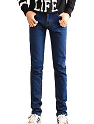 Men's Solid Casual JeansCotton / Polyester Blue ZJ-803