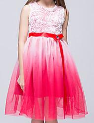 Vestido Chica deAlgodón-Verano-Verde / Morado / Rojo