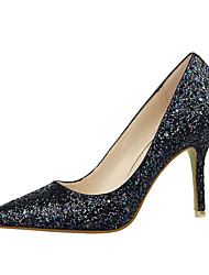 Women's Summer Heels Glitter Casual Stiletto Heel Black / Pink / Purple / White / Silver / Fuchsia