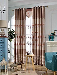 Embroidery living room blackout curtains window curtains for bedding room curtain fabric home decoration no valance