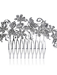9.3*6.5cm Hair Combs with Butterfly Crystal for Lady Wedding Party